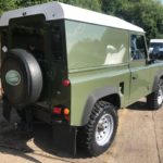 land rover defender 4x4 diesel rear view